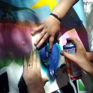 graffiti spray paint workshop