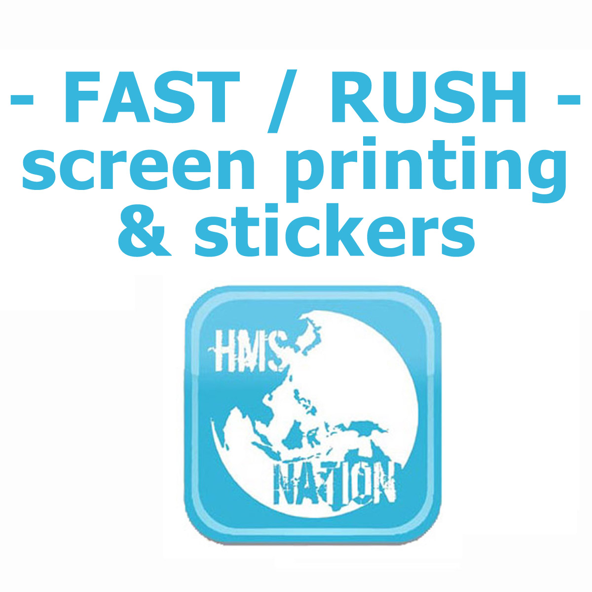 Screen print rush order portland hms nation hart mind soul