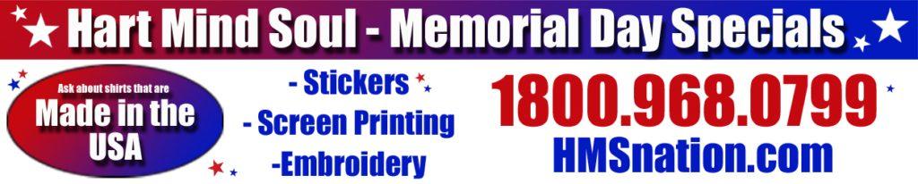 Memorial Day Screen Printing Portland