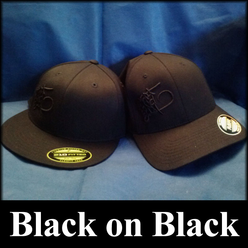 black on black 3D Puff Embroidery hats