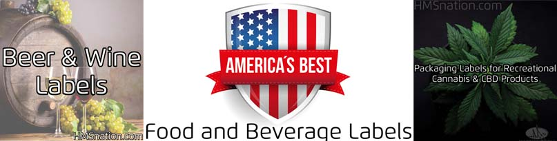 food and beverage product labels