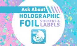 Holographic Foil Sticker Labels