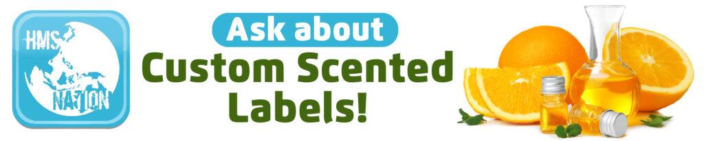 custom scented sticker labels